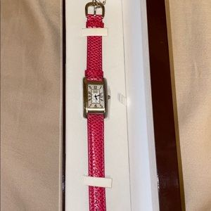 Pink Coach mother of Pearl watch